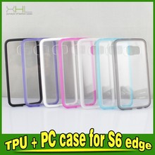 TPU PC Transparent Protective Cases For Samsung Galaxy S6 Edge