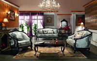 solid wood fabric sofa / malaysia wood sofa sets furniture G1219