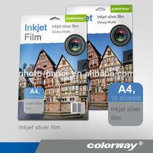 Metálico papel fotogra´fico/<span class=keywords><strong>película</strong></span> de inyección de tinta a4/colorway de inyección de tinta papel fotográfico