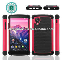 hot sale 3 in 1 football phone case for LG Nexus 5 factory newest model