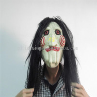 Jigsaw Mask for Party /Saw mask/Halloween Latex Mask with Hair