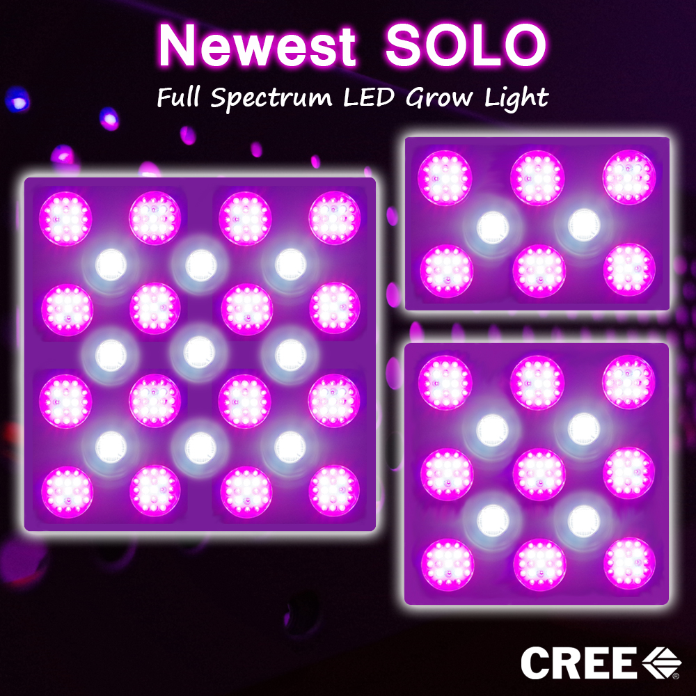 solo 800 watt led grow light with full spectrum 12 band. Black Bedroom Furniture Sets. Home Design Ideas