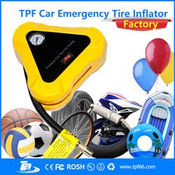 TPF auto car electric mini portable 12v air compressor / car tire inflator pump