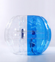 2015 CE certificated quality 1.0MM 100% TPU High Quality human sized soccer bubble ball, bumper zorbing