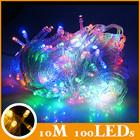 Atacado RGB pisca led 100 luzes / roll emocionante para árvore de natal decoração seqüência de luz