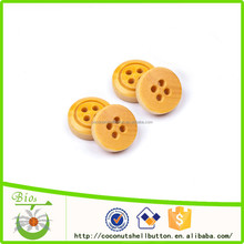 Natural wood color 18L wood crocs shoes button