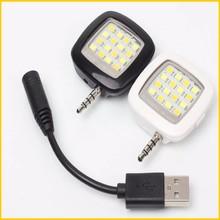 Cell phone camera micro light- fill night using enhancing flash light mini 16 led speedlite