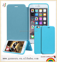 oem leather universal flip magnetic phone case for iphone 6 and 6 plus
