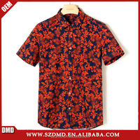 2015 New design custom printed hawaiian shirts for men
