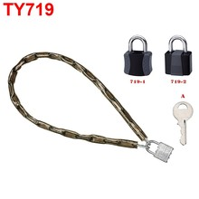 TY719 qualified products high safety chain locks with padlock for bike lock , e-bike lock and motorcycle lock with keys