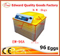 Incubadora de manufactura 96 Huevos Huevos Capacidad automático Incubadora Precio EW-96A