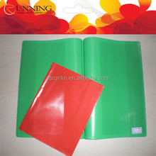 Factory make pvc book cover Durable notebook plastic cover