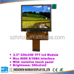 2.3 inch TFT LCD module 320* 240 dots with touch screen