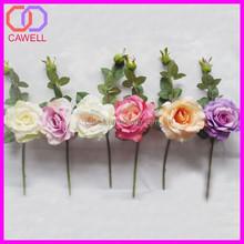2 heads short stem import artificial china rose