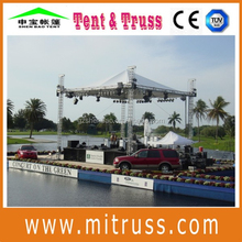stage roof system with speaker flying system
