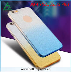 For iPhone 6 Bling Silk Cover Case, TPU Changed Color Stickers Soft Beauty Phone Case