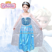 FREE SHIPPING BY FedEx or China Post mail Girls Birthday Party Dresses Frozen Fever Elsa Dress Costumes