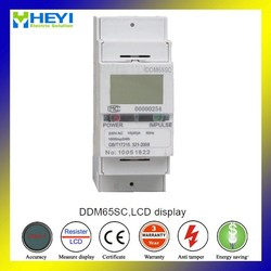 ZMM65 DIN Rail electric Meters Single Phase LCD Display for Smart House 2 pole
