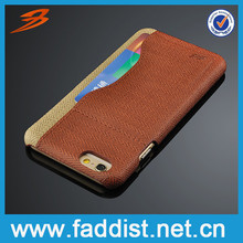 One Card slot Leather cheap mobile phone case for iphone 6s mobile accessories