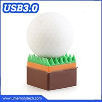 Best sports gifts golf ball shaped promotional usb flash drive best price pen drive