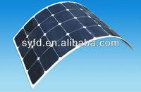 semi-flexible / bendable solar panel / PV module,monocrystalline silicon soalr panel with high efficiency