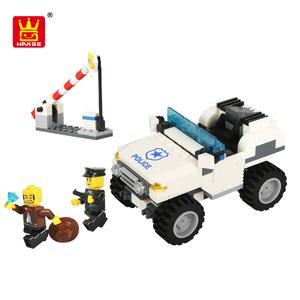 Bloco de conexão de brinquedos do miúdo conjunto de carros de brinquedo de plástico com baixo moq