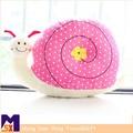 Venda quente cartoon bonito do luxuoso brinquedo caracol, animal de pelúcia travesseiro