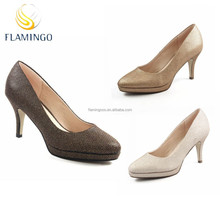 FLAMINGO 2015 LATEST ODM OEM Waterproof Taiwan high-heeled shoes glitter high heels shoes