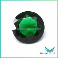 Diamond Cut Glass Gems Emerald Green Glass Stone