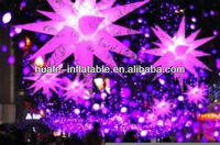 Beautiful inflatable lighting/inflatable shining star shape with led light
