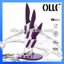 Paring knife and Utility Knife 3pcs Ceramic Coating White Blade Kitchen Knife Set