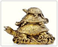 Bronze TheeTurtles, fengshui Tortoises