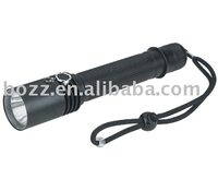 USA 1W/3W/5W led lithium ion battery aluminum flashlight 195lm