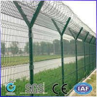 3D-PVC coated wire mesh airport fence