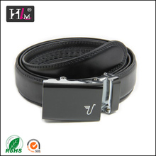 2014 high quality black mens leather belts with automatic buckle