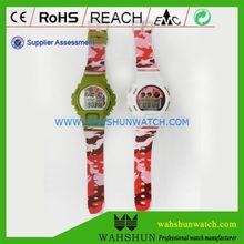 Hot professional custom camouflage digital military multipurpose watch for men