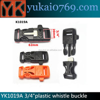 Practical whistle buckles with firesteel,survival buckle,Side Release whistle Buckle