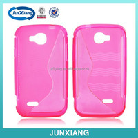 Slim tpu case with S pattern for Alcatel V35 mobile phone case maker