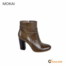 MK075-1 Camel Italian leather shoe