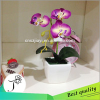 JY hot-sale wholesale mini fabric artificial flower pot artificial orchid flowers