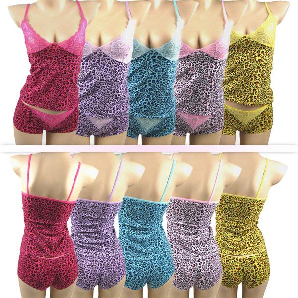 Guangzhou Bestway sous - vêtements gros stretch doux coton fabrc lingerie pas pad forte coton sommeil cami et shorts