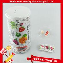 Center Filled Soft Candy,Fruit Flavor Milk Candy,Soft Milk Ball Candy