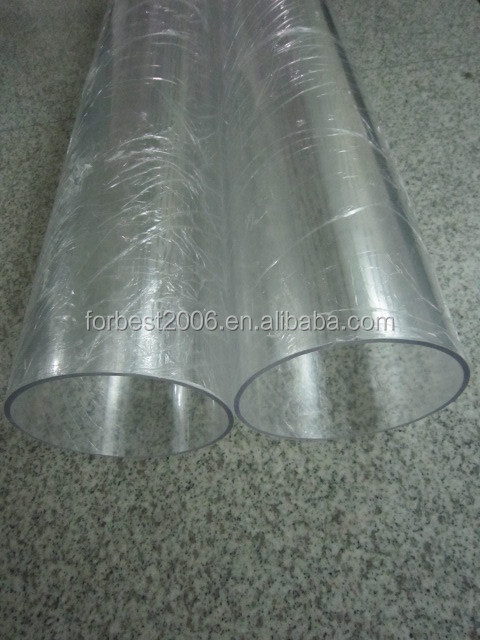 Pvc transparent tuyaux de grand diamètre dur tube