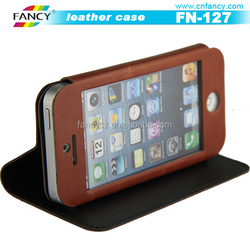 best sale smart view touch screen leather covers for Iphone 6