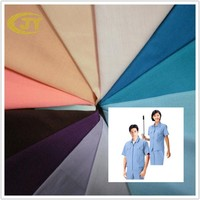 combed poly cotton white dyed fabric for shirt 45*45 133*72