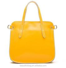 2015 new trend thin design ladies handbags, shoulder bag in yellow