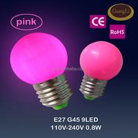 110-240v 0.5w 0.8w 1w led bulb christmas decoration