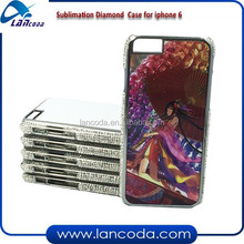different color Sublimation bling phone case for iphone6 4.7 inch,sublimation rhinestone case,sublimation bling cell phone cover
