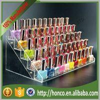 5 Tiers 55pcs Acrylic Nail Polish Display Rack,Clear