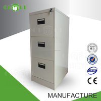 China top 10 office furniture manufacturers 3 drawer metal file cabinet